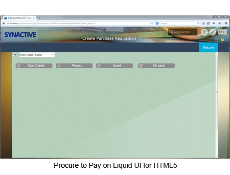 Procure to Pay on Liquid UI for HTML5
