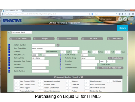 Purchasing on Liquid UI for HTML5