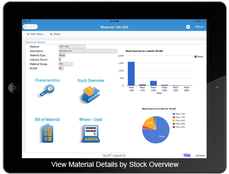View Material Details by Stock Overview