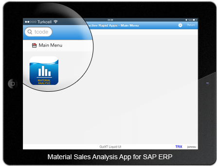 Material Sales Analysis App Home Screen