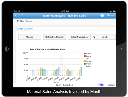 Material Analysis Invoiced Sales By Months