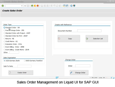 Sales Order Management on Liquid UI for SAP GUI