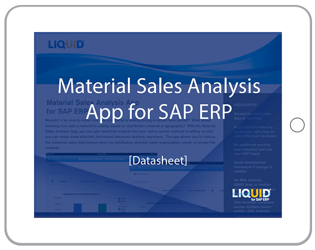 Liquid UI - Datasheets - Material Sales Analysis App