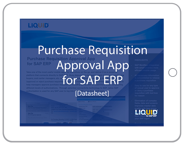 Liquid UI - Datasheets - Purchase Requisition Approval App