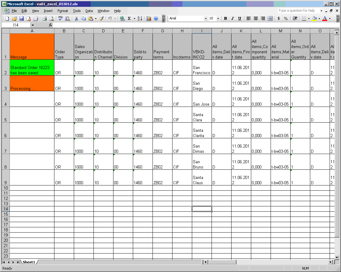 Running excel scripts for Run of show template